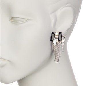 Modern Glass Tassel Earrings E618B